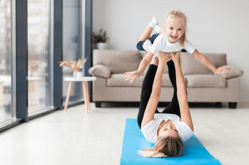 Cómo hacer ejercicio con niños desde casa
