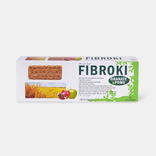 Galletas saludables de manzana y granada - Fibroki