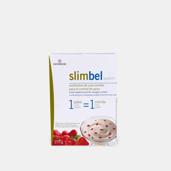 Natillas  de yogur con frutos rojos sin huevo - Slimbel