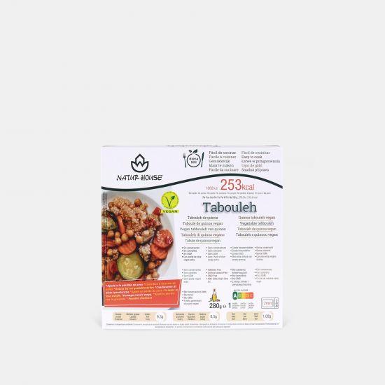 Tabouleh de quinoa vegano con verduras